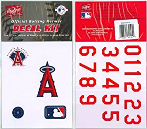 a7ed3556 Get Quotations · Authentic MLB Official Batting Helmet Decal Kit from  Rawlings