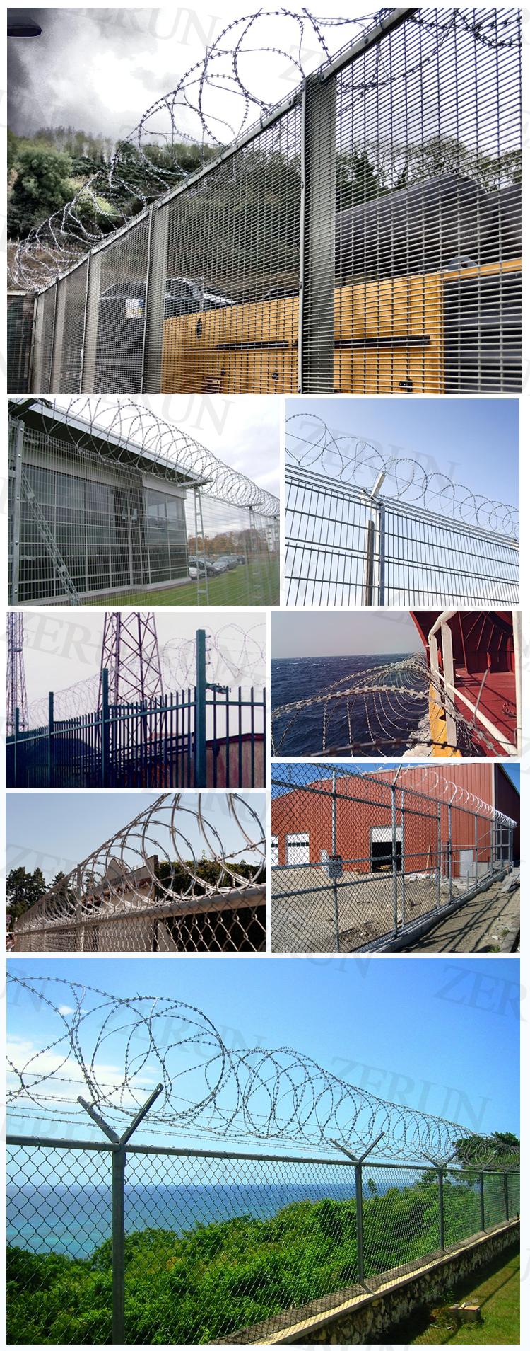 Concertina Wire Length Per Roll Steel Flat Wrap Razor Wire - Buy ...