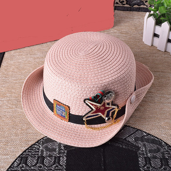 roll brim kids mini straw hat 3d embroidery patch wholesale straw cowboy  hats 42daf7f74d12