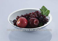 Elegant designs stainless steel double wall fruit dishes