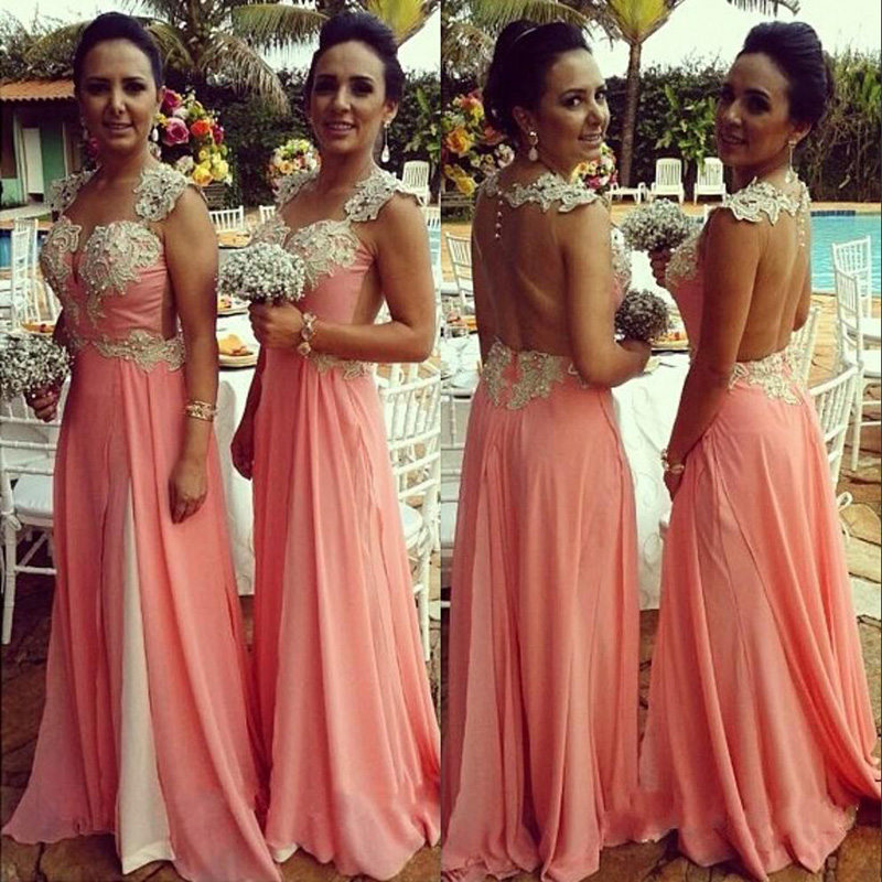 2016 Blush Pink Wedding Guest Dresses Vintage See Though