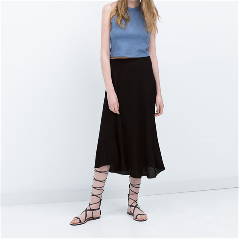 1ae352f5c74 Get Quotations · Hot Selling American Apparel Black Casual Loose Skirt Long  Maxi Plus Size Autumn Spring Women Skirt