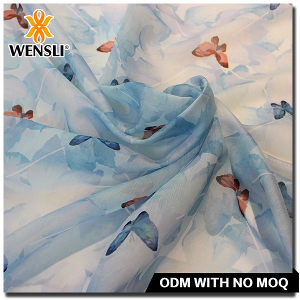 silk organza fabric india fancy digital print printing 100 polyester textile fabric