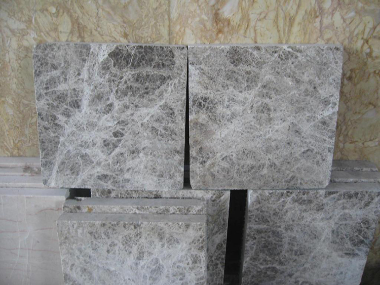luxury exterior decorative wall stone tile marble making machine silver grey marble ceramic look tiles