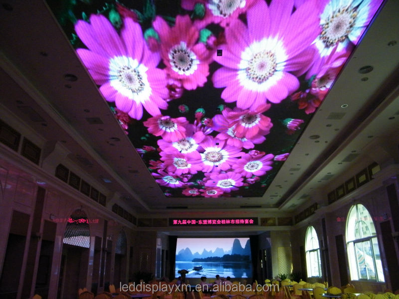 p7.62 led ceiling screen for big project