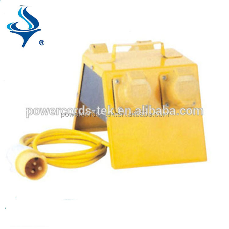 yellow industry used extension cord cable reel