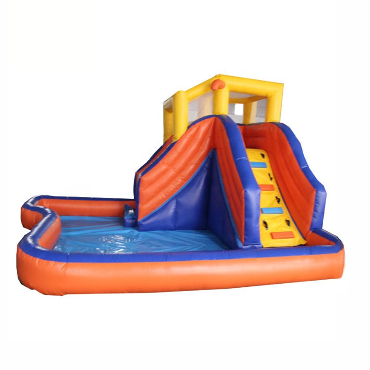 Cheap Price Large Inflatable Kids Bouncy Jumping Castle Combo Water Park Playground Water <strong>Slide</strong> With Swimming Pool