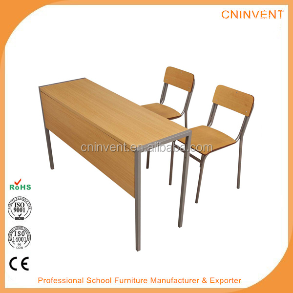 2 Seats Middle School Students Desk And Chairs