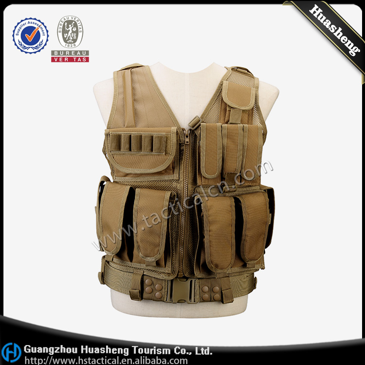 Military Hunting Vest Ultimate Arms Gear Tactical Carrier Vest With Modular Pouches