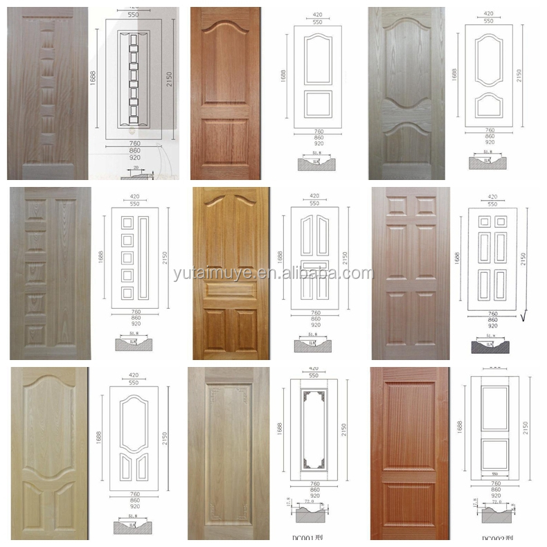 new design interior door molded wood veneer door skin  Plywood door skin