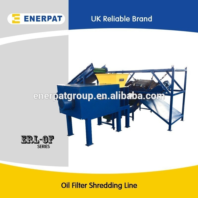 Oil filter shredder,Oil filter crusher,Oil filter recyling line with UK design/China price/CE