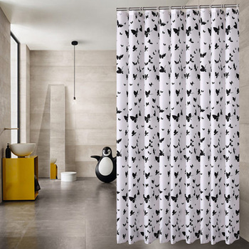 African Shower Curtain Butterfly Print Polyester Waterproof YouTube Recommend Curtains In The Bathroom