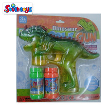 new arrivaL Dinosaur Bubble Shooter Gun with LED Lights and Dinosaur Sound and Extra Bottle Refill
