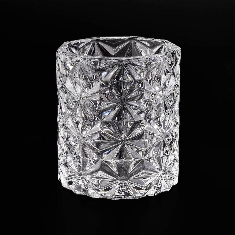 luxury 8oz engraving glass candle jar