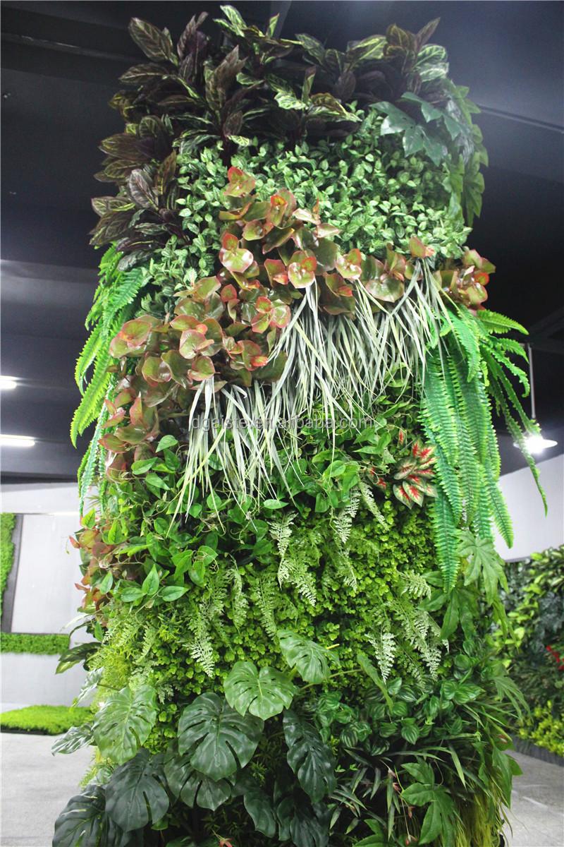 Stickers Home Garden Deco 300cm Tall Indoor Or Outdoor Artificial Plain  Green Climbing Column Plant Wall