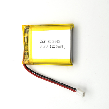 High quality rechargeable lithium polymer battery 803443 3.7V with 1200mah