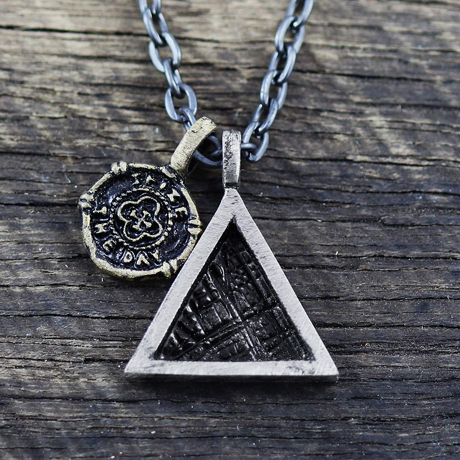 505063f9f8bdf Get Quotations · Triangle Necklace Mens Necklace Geometric Jewelry Mens  Chain Necklace Minimalist Necklace Mens Jewelry Silver Triangle Men s