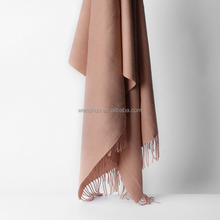 2017 Wholesale Solid Color 100% Cashmere Scarf For Women