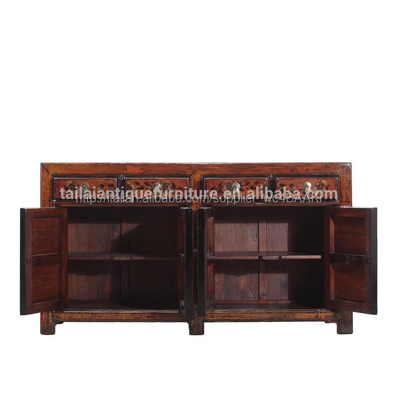 Cinese pechino di legno antico dipinto rustico armadio - Credenza sala da pranzo ...