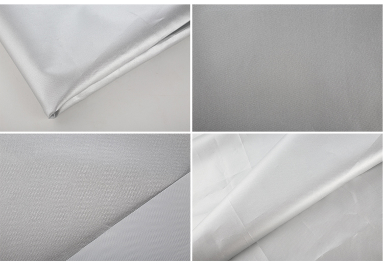 Working cloth material polyester PU silver coated waterproof textiles fabrics for men
