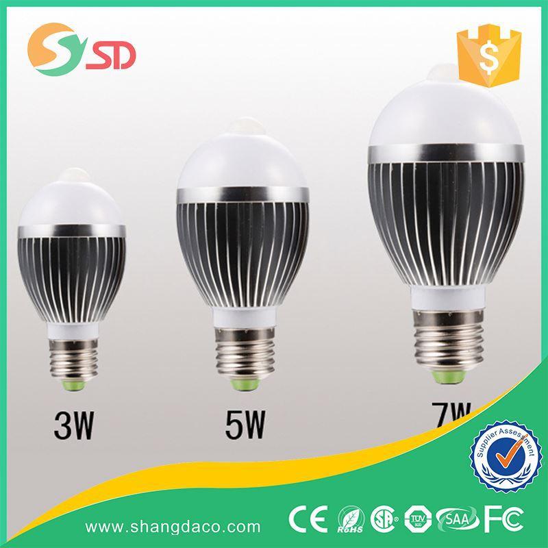 Smd E27 E26 E14 B22 Pir Sensor Led Bulb 3w 5w 7w 9w 12w Pir Gu10 ...