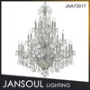 JANSOUL China supplier modern hotel silver chrome 26 lights metal crystal giant chandelier