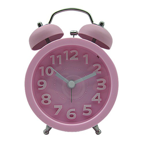 3D Index Number Twin Bell Alarm Clock
