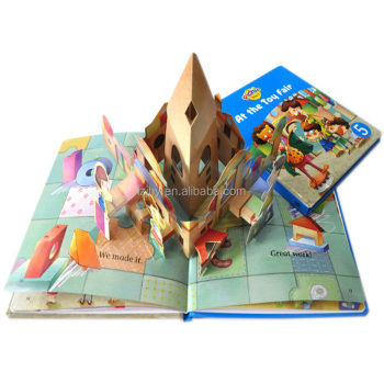 Custom OEM design kid books 3D colorful children cartoon animal books printing