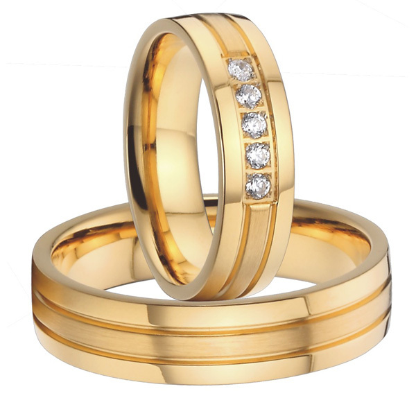 4ab872ba1a Buy 2015 classic new design titanium wedding bands promise anniversary  rings sets for men and women 18k gold plated alliances in Cheap Price on  m.alibaba. ...