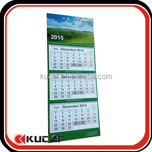 A3 Size Paper 3 Fold Hanging Wall Calendar Buy A3 Size