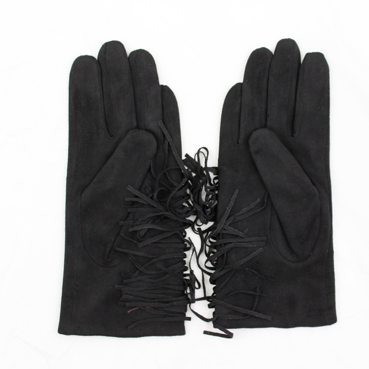 Chirstmas gift party dress sexy winter wearing cheap suede leather glove