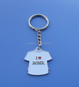 Travel Gift Souvenir I Love Rome Metal Enamel T-Shirt Keychain Key Holder