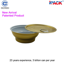 New Arrival Empty Two Piece Aluminum Food Can With Easy Peel Off Lid