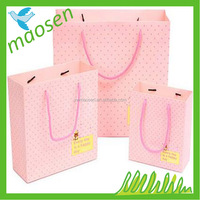 finest shopping paper gift bags with ribbon handles manufacturer