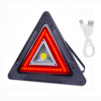 Roadside Assistance USB Rechargeable Power Bank Emergency Warning Lighting Work Lamp Portable Triangle 20W Cob Led Working Light