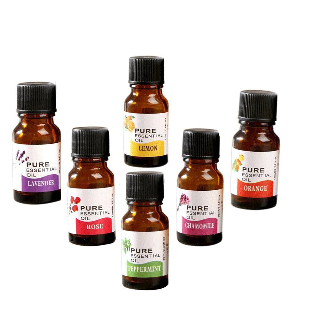 Misaky Aromatherapy Oils Essential Oils Set 100% Pure of The Highest Quality, Rose / Tea Tree / Rosemary / Eucalyptus / Ylang Ylang / Citronella Skin Care 10ml (10ML6)