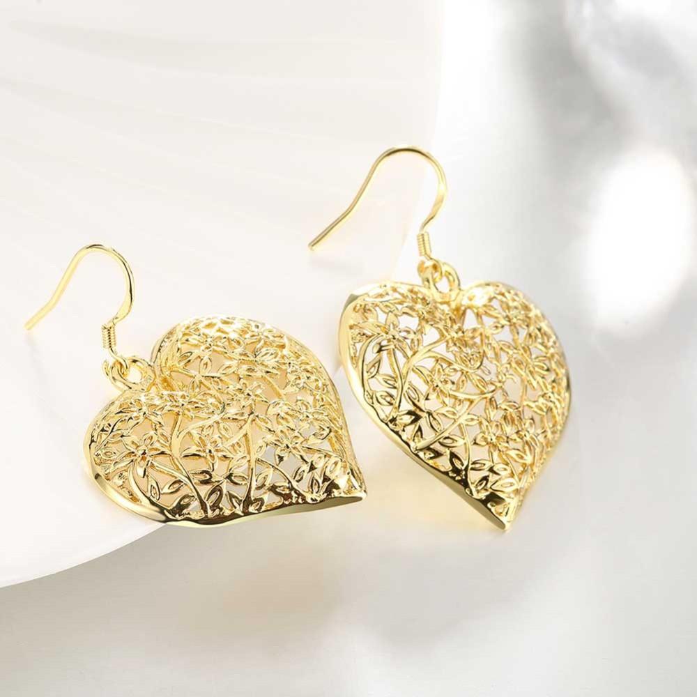 Saudi Gold Jewelry Fashion Design Hanging Earrings Women Hollow ...