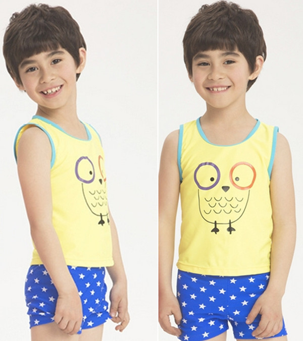38e7e2a8d3192 Get Quotations · Free Shipping 2015 New Yellow Cute Print Piece Kids Boy  Swimsuit Boy Swimwear Kids Toddler Swimsuits