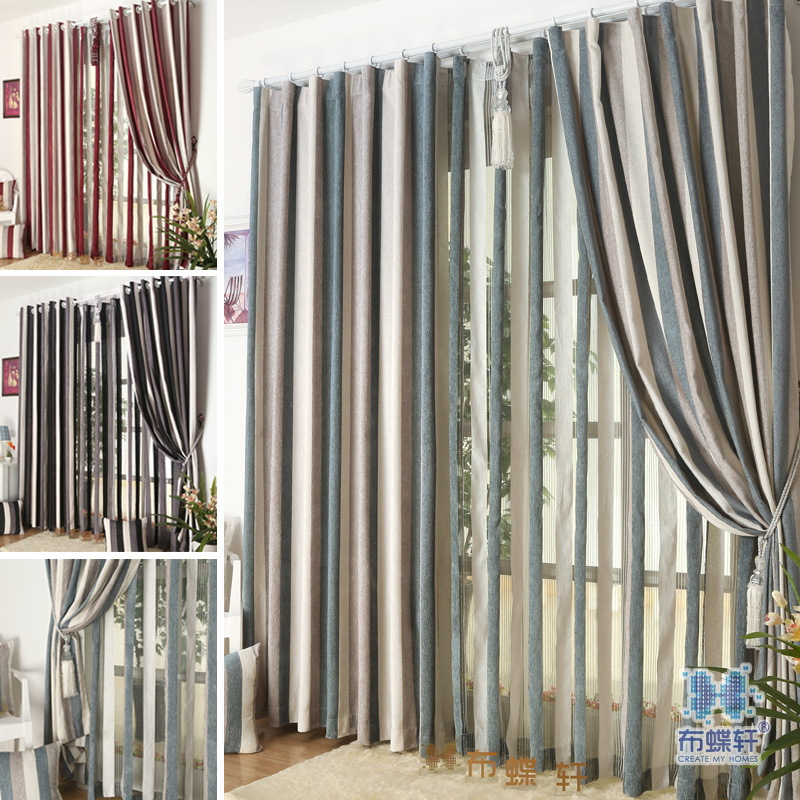 Stripe Design See Through Tulle For Curtain Luxury