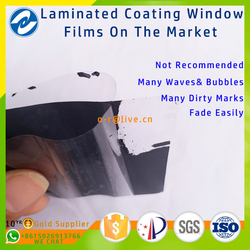Newest technology non-coating primary color 7099 self heat insulation window film