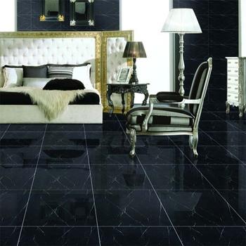 China Black Polished Porcelain Floor