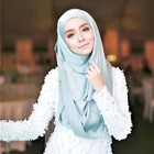 19 Colors Women hijab Copy Silk large Square Muslim Scarf Printed Different Colors Lady Foulard Scarf