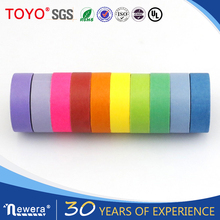 Colorful washi painted masking tape rolls