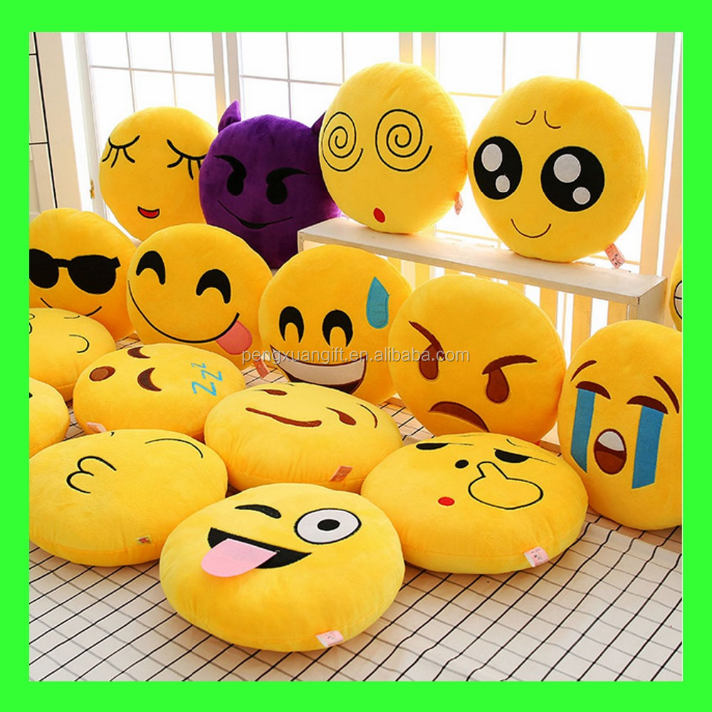 factory direct hot sale plush emoji pillows,lovely pillow emoji,expression hot sale emoji stuffed toy