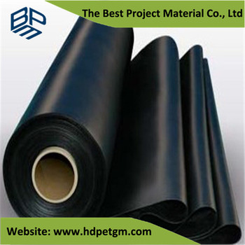 2mm Hdpe Black Plastic Roll Sheet Hdpe Liner Geomembrane
