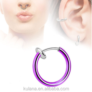 Best Selling Fashion Design Navel Belly Ring Newest Wholesale Spring Fake Septum Clicker Piercing