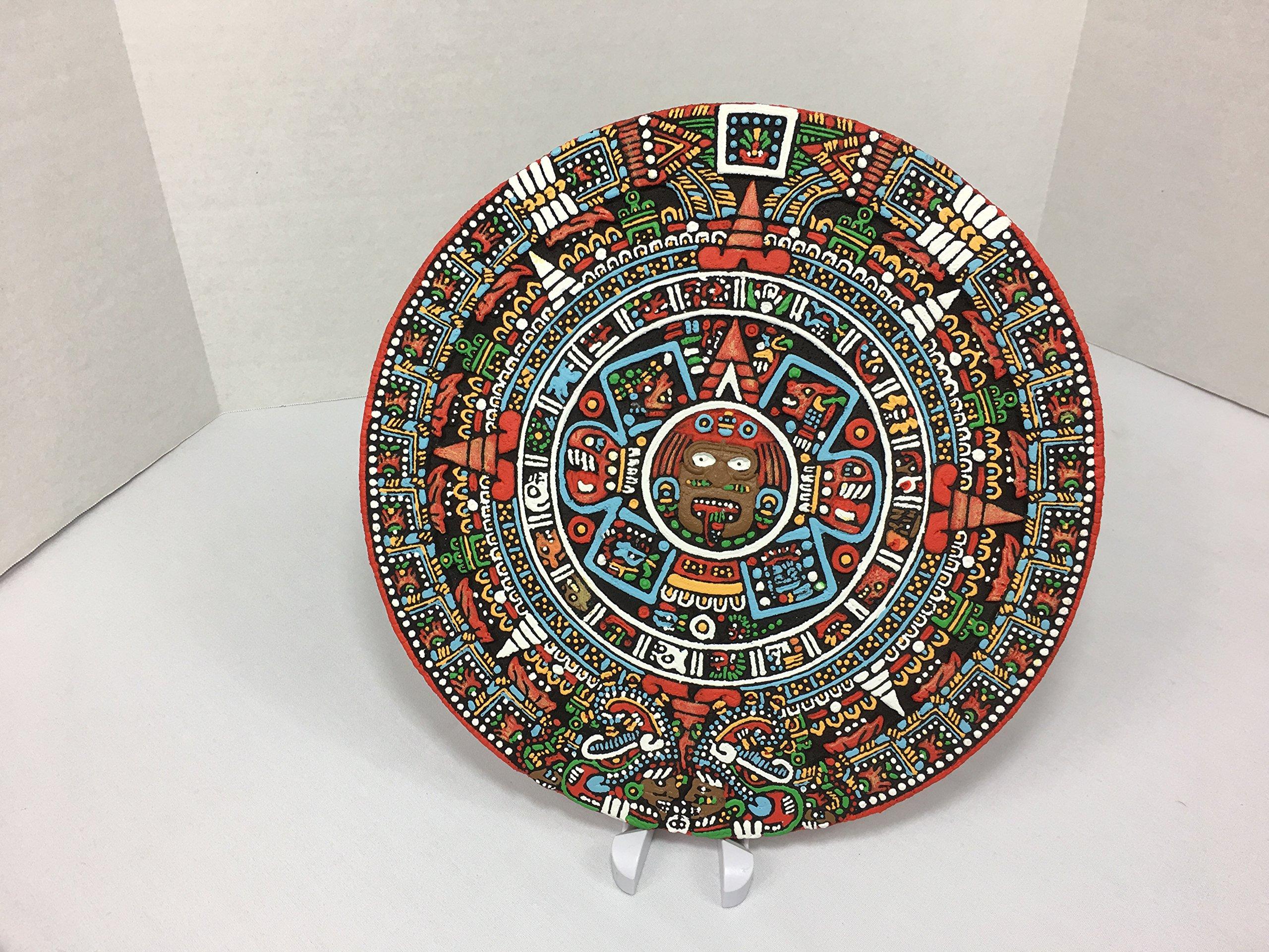 Buy Authentic Aztec Solar Calendar Wall Relief, Sun Stone, Mexican