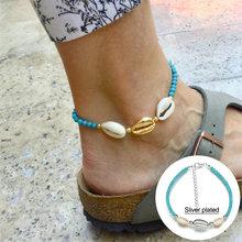 Huitan, Летние Стильные аксессуары, ножные браслеты для женщин, милый кулон-черепаха с морским синим цветом, оптовая продажа(Китай)