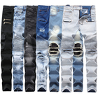 Spandex / Cotton [ Jeans Pants ] Mens Jeans New Wholesale Jeans Classic Fashion Pants Denim Man Jeans Biker Small Straight Jeans Men