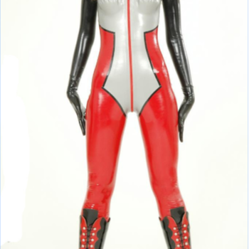 Can support high quality latex rubber tight bodysuit catsuit latex clothing
